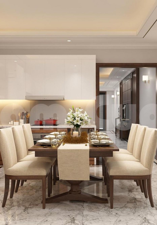 Thiết kế nội thất khách bếp hiện đại cho nhà phố đẹp tại Hải Phòng