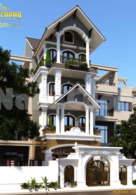 Biệt thự 4 tầng kiểu Pháp-Thiết kế cho người tinh tế