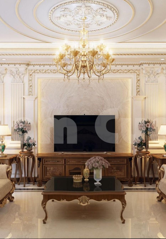 Thiết kế nội thất khách bếp cổ điển cho biệt thự - NTKB 0101
