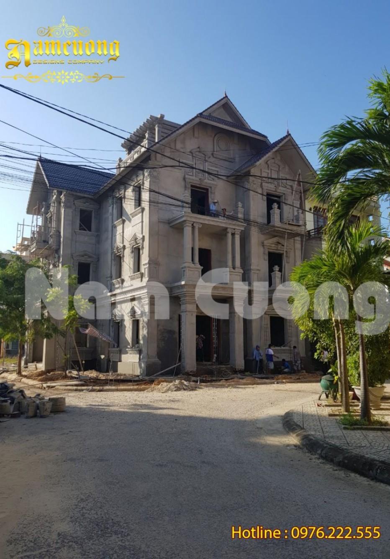 Thi công biệt thự tân cổ điển nguy nga tại Quảng Bình