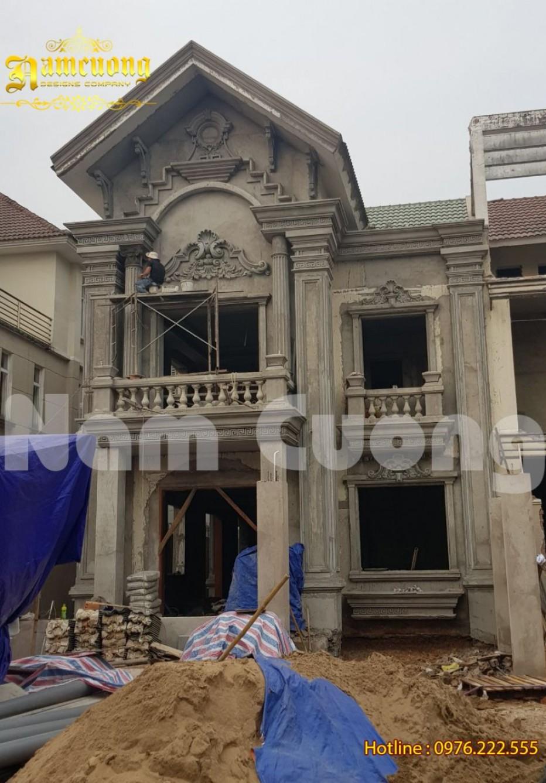 Ấn tượng công trình biệt thự tân cổ điển được Nam Cường cải tạo