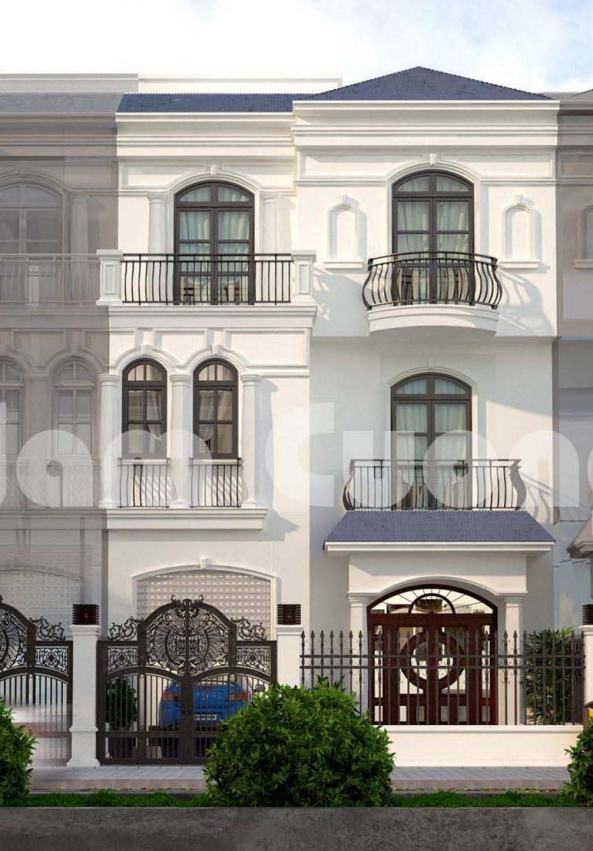Thi công mặt bằng nội thất biệt thự tân cổ điển tại Vinhomes - BTTCD 028