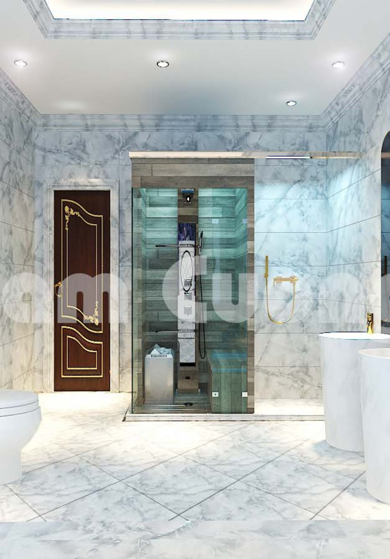Tham khảo thiết kế nội thất tân cổ điển cho phòng WC của Nam Cường