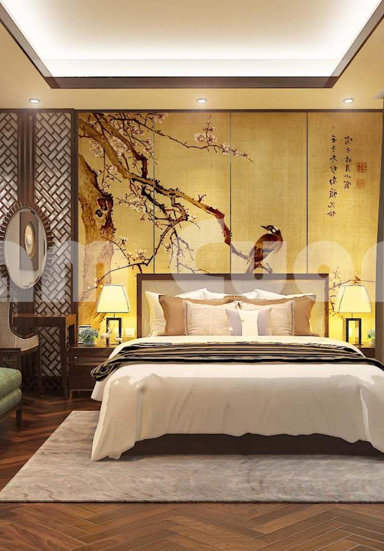 Mẫu thiết kế nội thất phòng ngủ biệt thự tân cổ điển