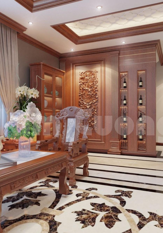 Nội thất hoàn chỉnh cho biệt thự tân cổ điển 3 tầng