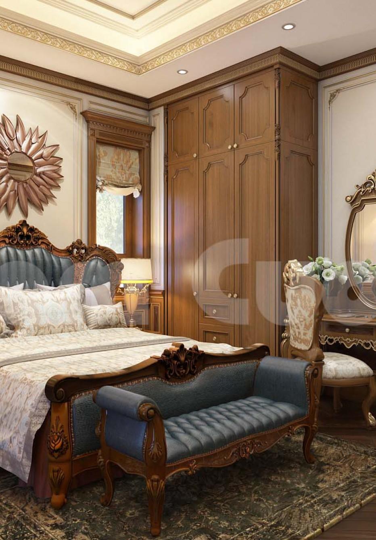Nội thất tân cổ điển- Nội thất phòng ngủ biệt thự tân cổ điển