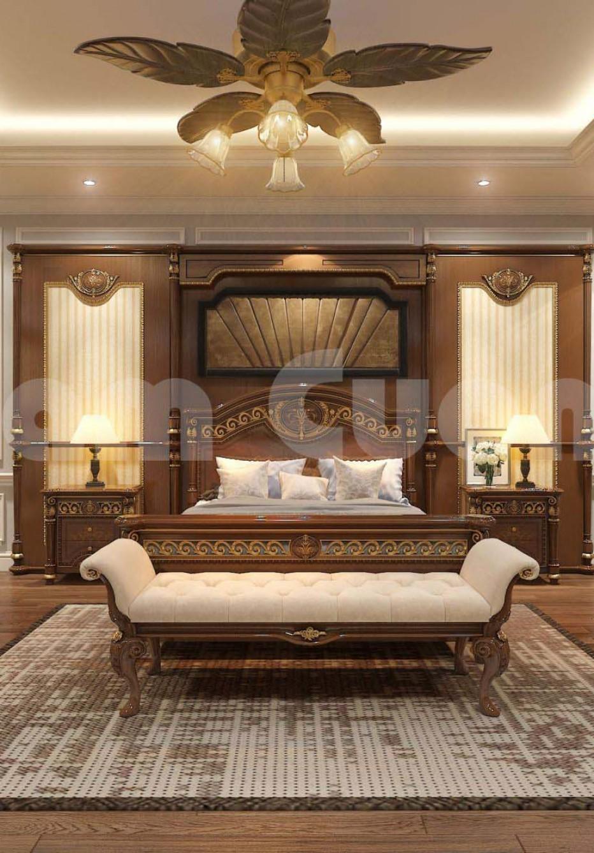 Thiết kế nội thất phòng ngủ tân cổ điển đẳng cấp