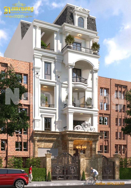 Hoàn thành thiết kế biệt thự phố 6 tầng - CĐT Bùi Mạnh Lân
