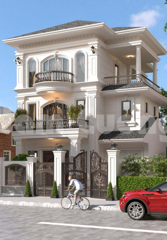 Hoàn thành thiết kế biệt thự Pháp 3 tầng 2 mặt tiền