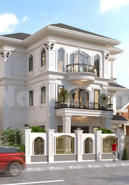 Thiết kế biệt thự tân cổ điển 3 tầng tại Hải Phòng