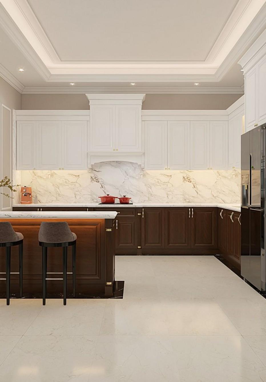 Thiết kế nội thất biệt thự tân cổ điển đẹp, chuẩn phong thủy