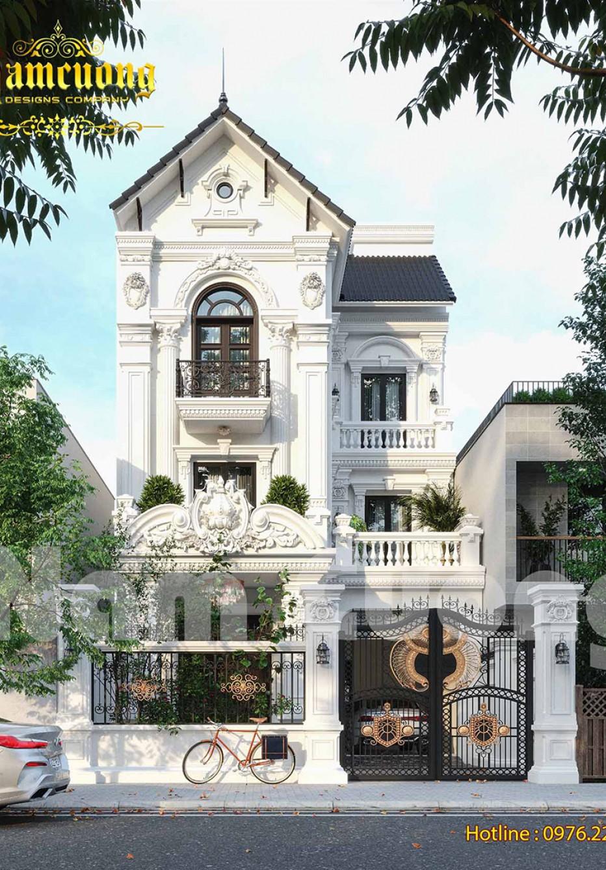 Kiến trúc ngôi biệt thự phố 3 tầng kiểu Pháp
