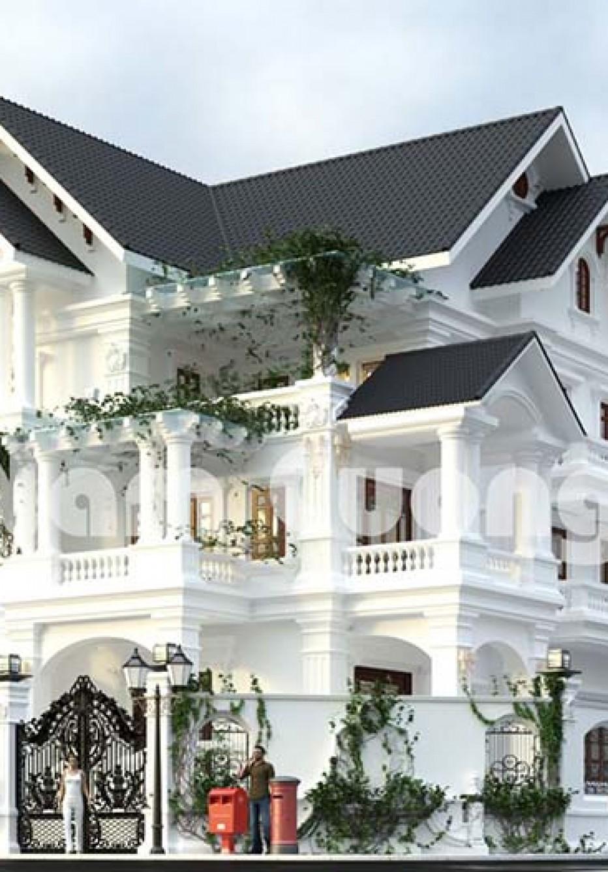 Ấn tượng mẫu biệt thự tân cổ điển 3 tầng 2 mặt tiền đẹp