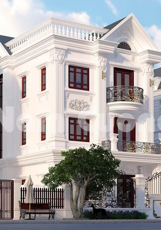 Công trình biệt thự tân cổ điển 3 tầng vinhomes đẹp
