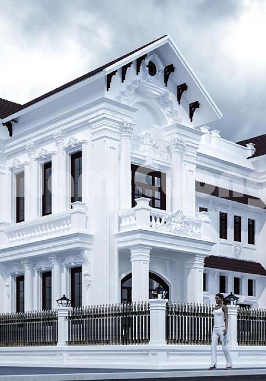Thiết kế biệt thự tân cổ điển 500m2 mái Thái cao cấp