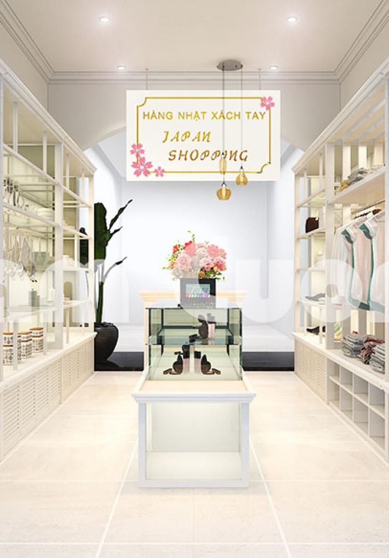Thiết kế nội thất shop hàng nhật xách tay tại Hải Phòng - CSKD 001