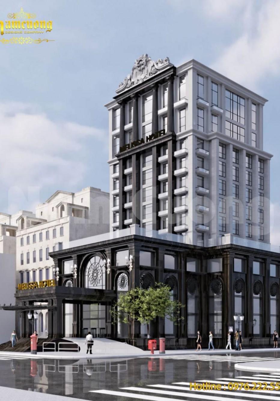 Ấn tượng mẫu khách sạn tân cổ điển 14 tầng