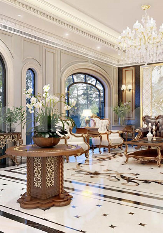Thiết kế sảnh khách sạn tân cổ điển tại Đà Lạt