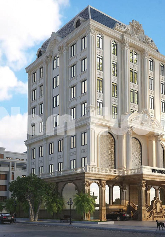 Thiết kế tòa nhà tân cổ điển 7 tầng sang trọng tại Sài Gòn