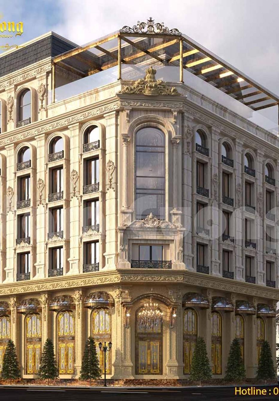 Mẫu thiết kế 3D khách sạn cổ điển tạo ấn tượng cho việc kinh doanh