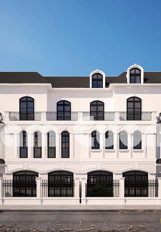 Thiết kế biệt thự 3 tầng mặt tiền 8m tân cổ điển