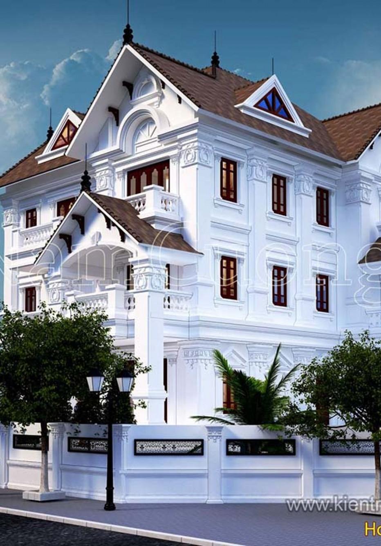 Mẫu nhà 3 tầng phong cách tân cổ điển đẳng cấp