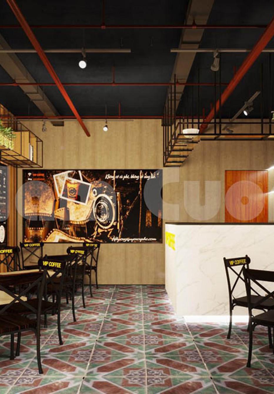 Thiết kế quán cafe 20m2 ấn tượng tại Thái Bình