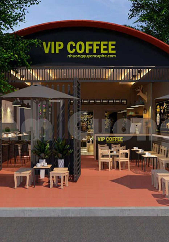 Thiết kế thi công nội thất quán cà phê VIP Coffee