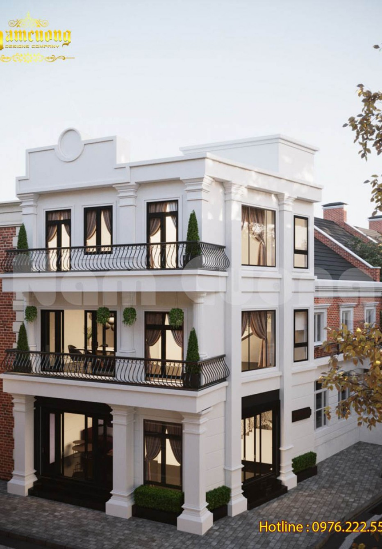 Thiết kế biệt thự tân cổ điển 3 tầng 2 mặt tiền