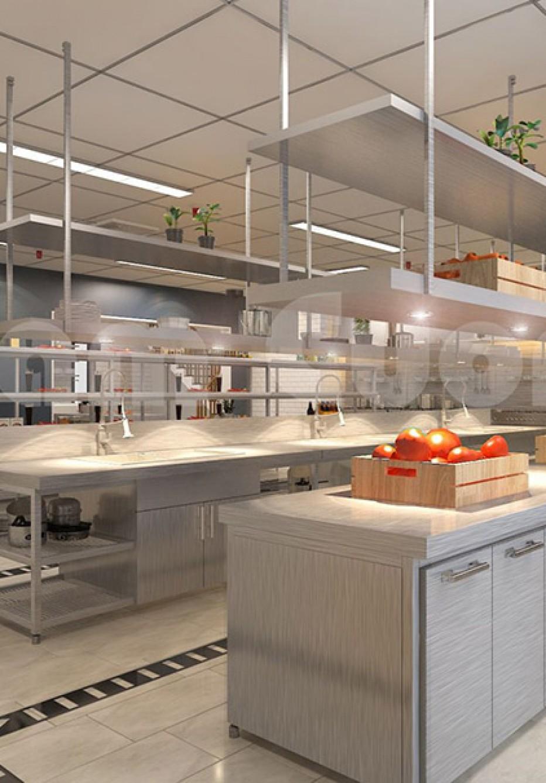 Thiết kế bếp nấu cho nhà hàng hải sản Vườn Hồng