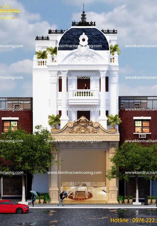 Mẫu thiết kế nhà phố 4 tầng mặt tiền 7m đẹp ấn tượng