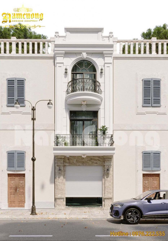 Mẫu thiết kế nhà phố 4m tân cổ điển sang trọng