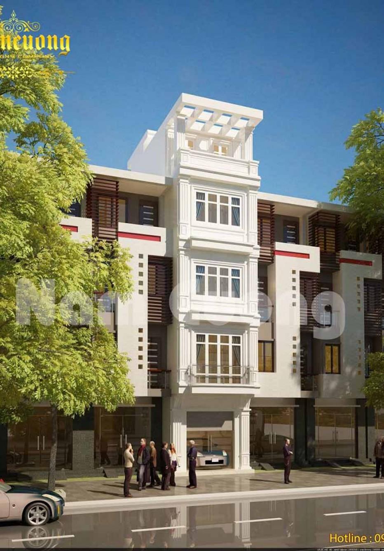 Đón đầu xu hướng với mẫu thiết kế nhà phố 5 tầng mái bằng