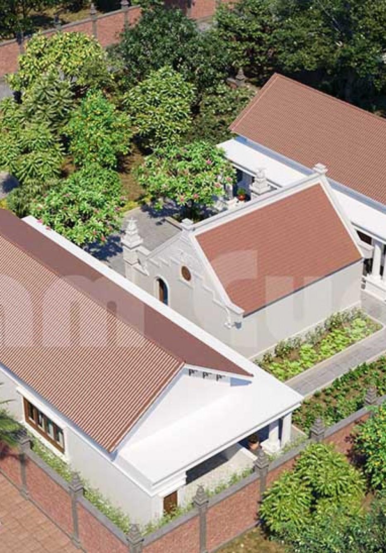 Mẫu thiết kế nhà vườn có nhà thờ đẹp tại Hải Phòng