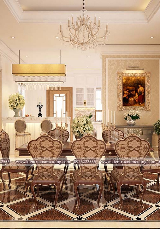 Mẫu thiết kế nội thất biệt thự 3 tầng đẹp
