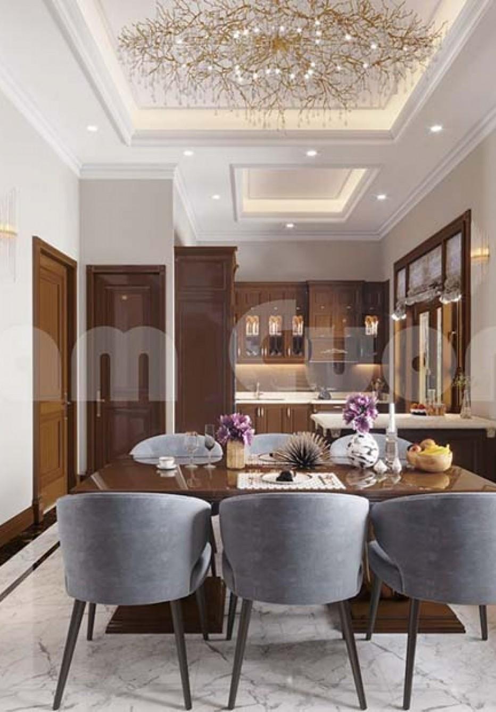 Thiết kế nội thất biệt thự 3 tầng tân cổ điển hoành tráng