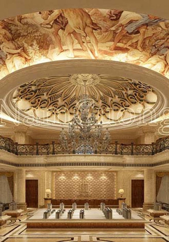 Hoành tráng mẫu nội thất biệt thự cổ điển đẹp