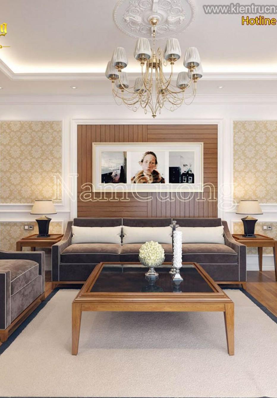 Tổng hợp những mẫu thiết kế nội thất chung cư tân cổ điển đẹp