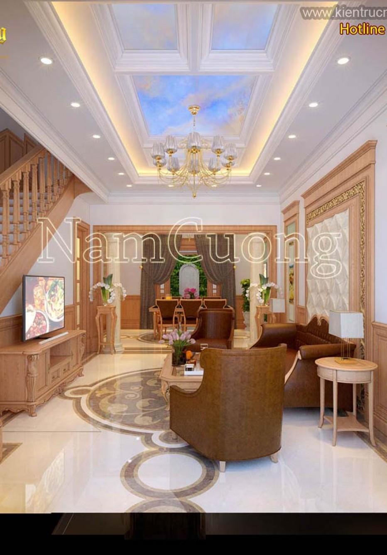 Mẫu thiết kế nội thất nhà ống mặt tiền 6m