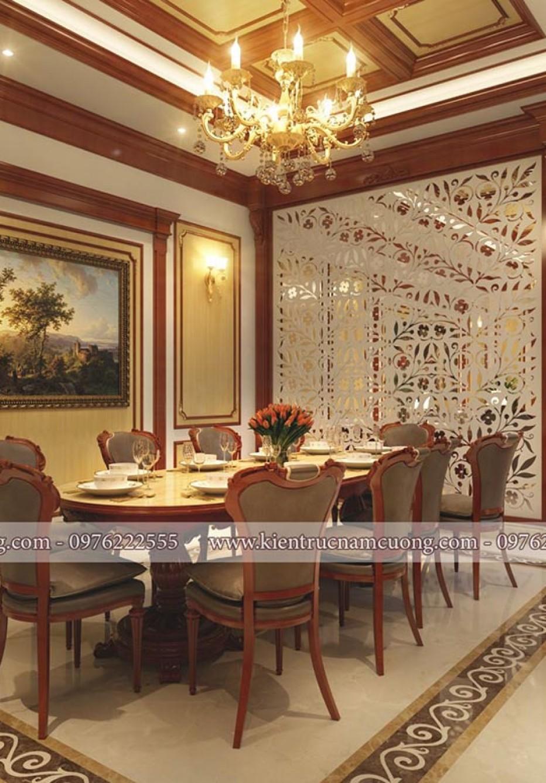 Mẫu thiết kế nội thất nhà ống tân cổ điển tại Hải Phòng