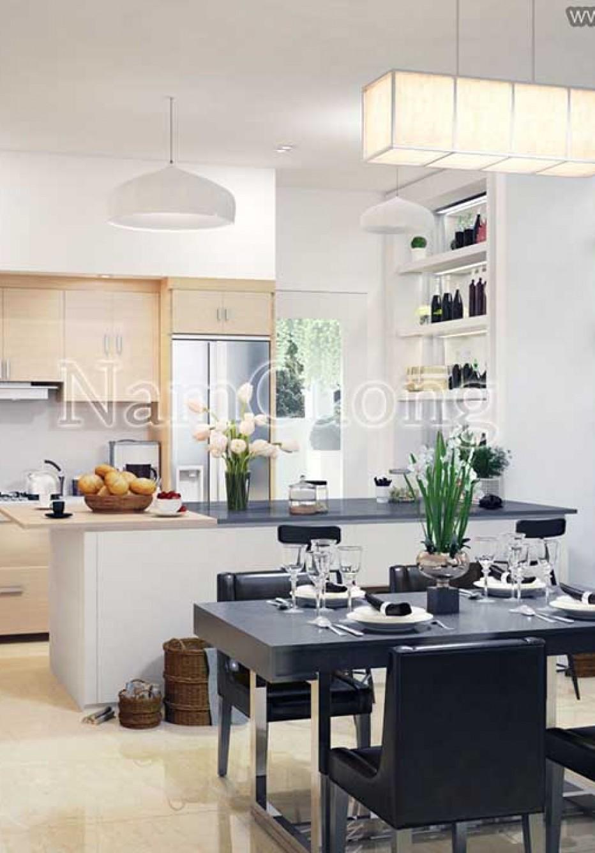 Mẫu nội thất phòng bếp chung cư hiện đại đẹp