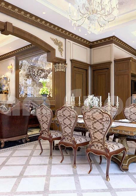 Không gian nội thất phòng khách kết hợp bếp đẹp