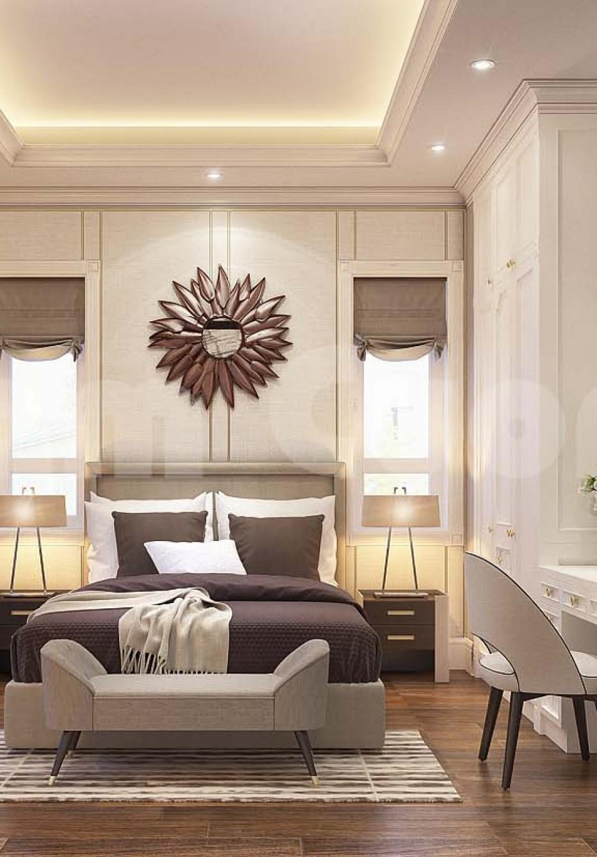 Nội thất phòng ngủ tân cổ điển 30m2 đẹp cho biệt thự