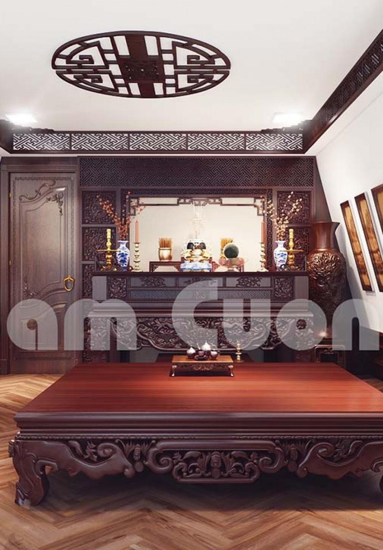Tinh hoa văn hóa Việt trong thiết kế nội thất phòng thờ