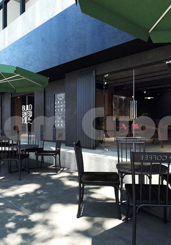 Quán cafe thiết kế 1 tầng phong cách hiện đại đơn giản