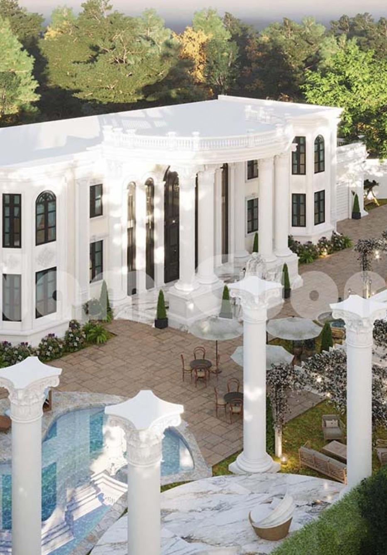 Thiết kế biệt thự sân vườn 2 tầng 2000m2