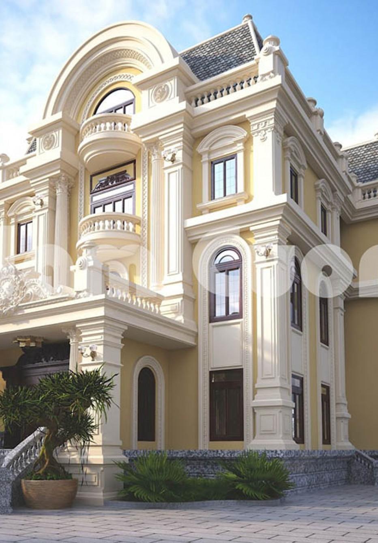 Kiến trúc đẳng cấp của mẫu thiết kế dinh thự 3 tầng