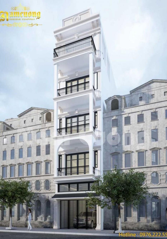 Mẫu thiết kế nhà ống 5 tầng đẹp khiến bạn siêu lòng